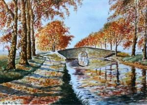 Le canal en Automne