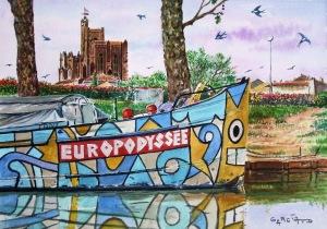 Péniche Europodissée -CAPESTANG-