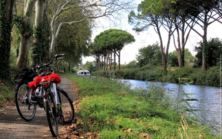 Sur la voie verte reliant Trèbes à Carcassonne, nous avons fait mon épouse et moi-même une belle balade à bicyclette avec un couple d'amis. Merveilleux souvenirs que ceux de ces péniches nous saluant au passage, que ce repas de poissons pris à Trèbes, que ce calme interrompu uniquement par le bruit du revêtement de la voie sous nos pneus, où le moteur discret d'une embarcation. Nous renouvellerons l'expérience, c'est sûr !